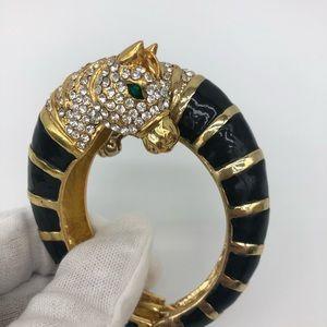 Aldo gold black rhinestones zebra horse bracelet